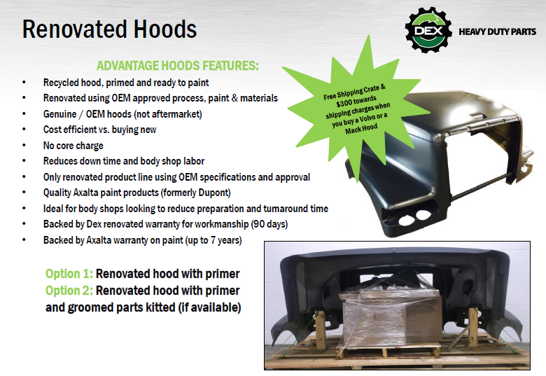 Renovated Hoods Features and Options